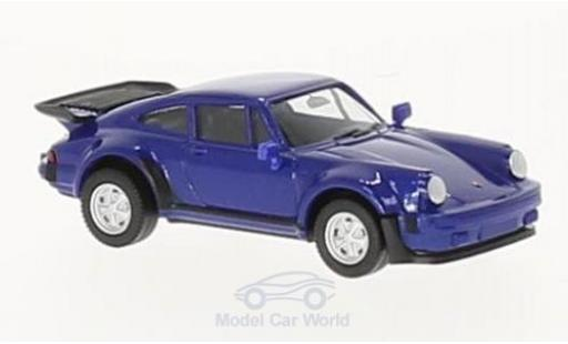 Porsche 911 Turbo 1/87 Herpa Turbo metallic-bleue miniature