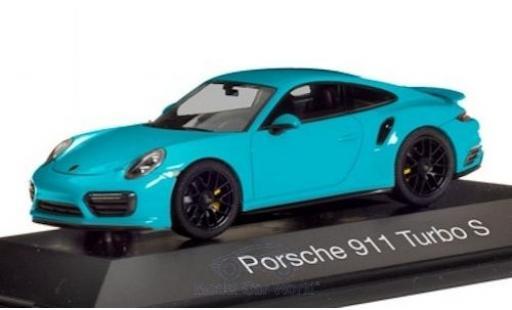 Porsche 992 Turbo s 1/43 Herpa 911 Turbo S  bleue miniature