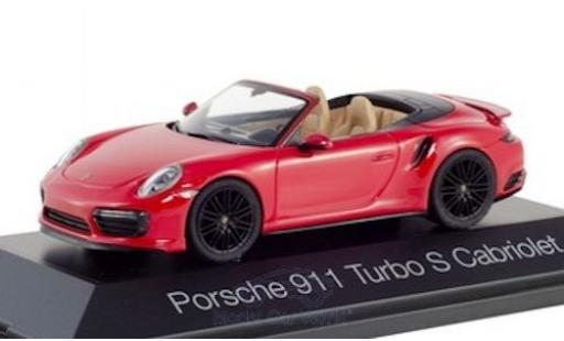 Porsche 992 Turbo s 1/43 Herpa 911 Turbo S Cabriolet  rouge miniature