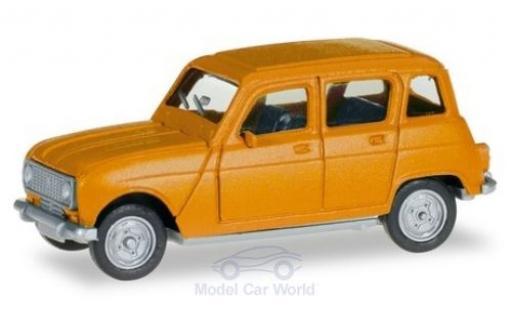 Renault 4 1/87 Herpa amarillo miniatura