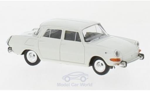 Skoda 1000 1/87 Herpa MB blanche miniature