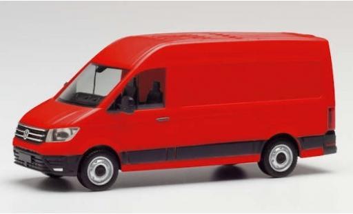 Volkswagen Crafter 1/87 Herpa Kasten Hochdach rojo coche miniatura