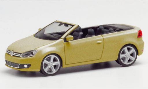 Volkswagen Golf 1/87 Herpa Carbriolet metallise beige diecast model cars
