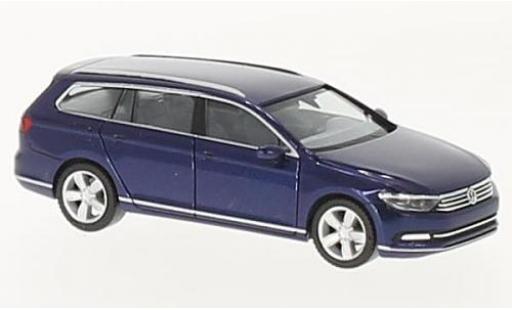 Volkswagen Passat 1/87 Herpa Variant metallise bleue miniature