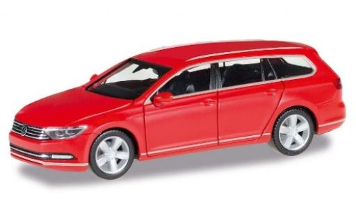 Volkswagen Passat 1/87 Herpa Variant rouge miniature