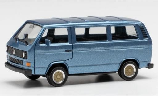 Volkswagen T3 1/87 Herpa Bus metallise blau avec BBS-jantes modellautos