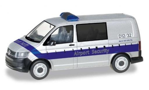 Volkswagen T6 1/87 Herpa Bus Airport Security / Fraport miniature