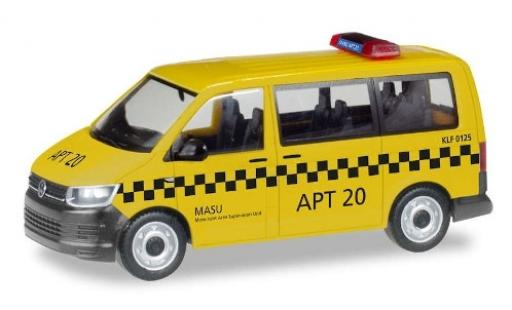 Volkswagen T6 1/87 Herpa Bus Fraport / MASU APT 20 diecast