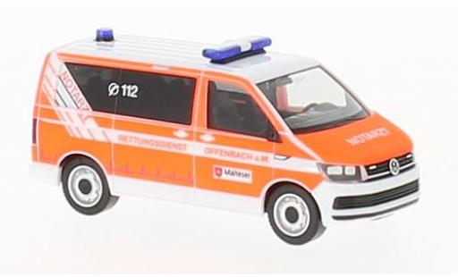 Volkswagen T6 1/87 Herpa Bus Malteser Offenbach miniature
