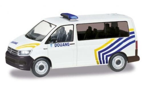 Volkswagen T6 1/87 Herpa Bus Zoll Belgien / Douane miniature