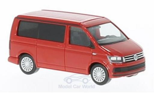 Volkswagen T6 1/87 Herpa California rouge miniature