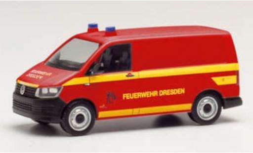 Volkswagen T6 1/87 Herpa Kasten Feuerwehr Dresden diecast model cars