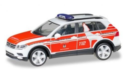Volkswagen Tiguan 1/87 Herpa Feuerwehr Wolfsburg Notarztfahrzeug coche miniatura