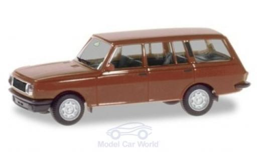 Wartburg 353 1/87 Herpa Tourist marron 1984 miniature