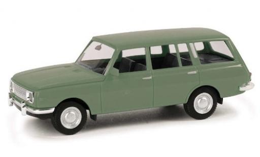 Wartburg 353 1/87 Herpa Tourist verte 1966 miniature