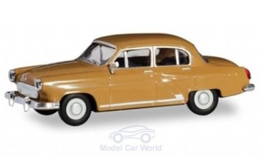 Wolga M21 1/87 Herpa marron miniature