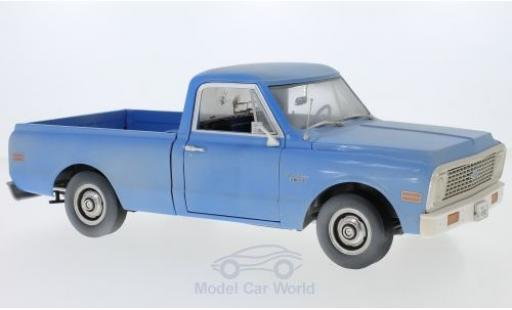 Chevrolet C-10 1/18 Highway 61 Pick Up bleue The Texas Chainsaw Massacre 1971 mit Schmutzeffekt miniature