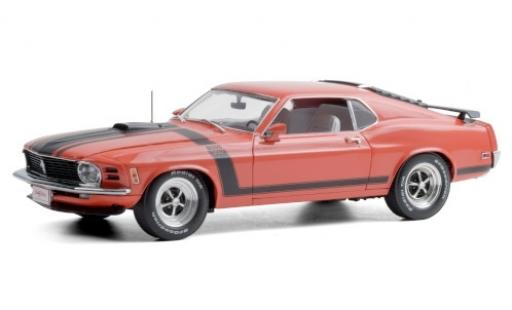 Ford Mustang 1/18 Highway 61 Boss 302 red/matt-black 1970 diecast model cars