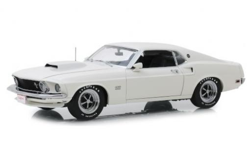 Ford Mustang 1/18 Highway 61 BOSS 429 bianco 1969 miniatura