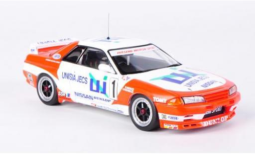 Nissan Skyline 1/43 HPI GT-R (R32) No.1 Unisia Jecs JTC Mine 1993 M.Hasemi/H.Fukuyama miniature