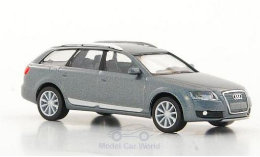 Audi A6 1/87 Herpa Allroad quattro metallise grise 2006 miniature