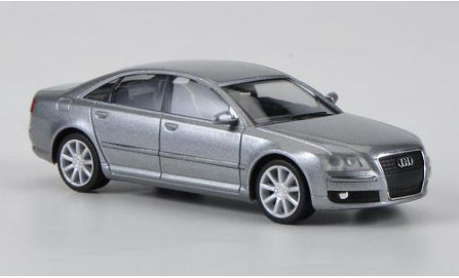 Audi A8 1/87 I Herpa metallise grise 2005 miniature