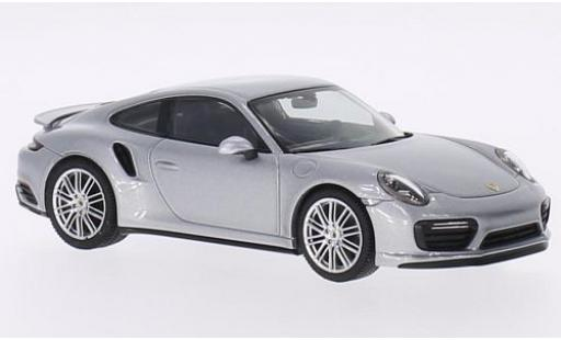 Porsche 991 Turbo 1/43 I Herpa 911 (/2) Coupe grise miniature