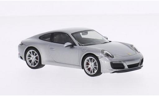 Porsche 991 S 1/43 I Herpa 911  Carrera Coupe grey 2015 diecast model cars