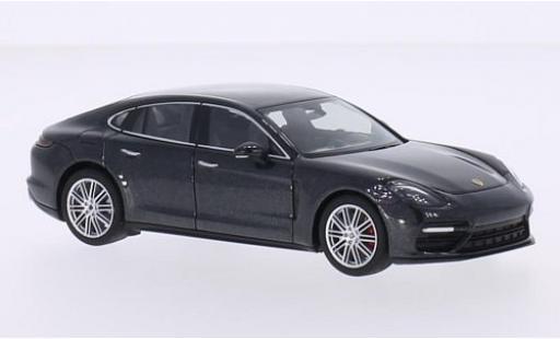 Porsche Panamera Turbo 1/43 I Herpa metallise anthrazit 2016 diecast model cars