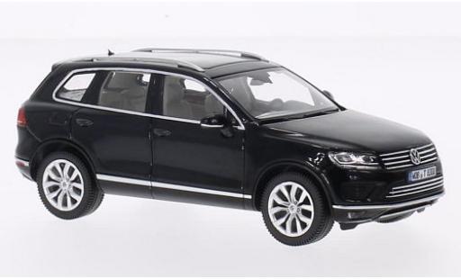 Volkswagen Touareg 1/43 I Herpa noire 2015 miniature