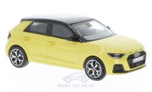 Audi A1 1/43 iScale Sportback métallisé jaune/noire 2018 miniature