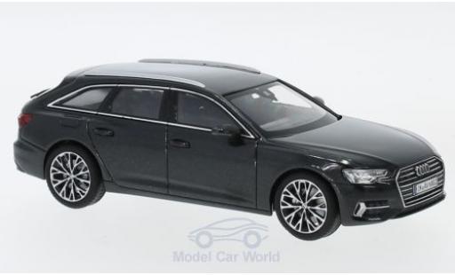 Audi A6 1/43 iScale Avant métallisé grise 2018 miniature