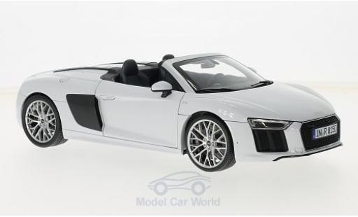 Audi R8 1/18 iScale Spyder V10 grise 2016 ohne Vitrine miniature