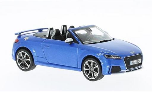 Audi TT 1/43 I iScale RS Roadster metallise bleue 2017 miniature