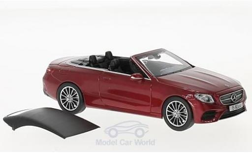 Mercedes Classe E 1/43 iScale Cabriolet (A238) metallise rouge 2017 miniature