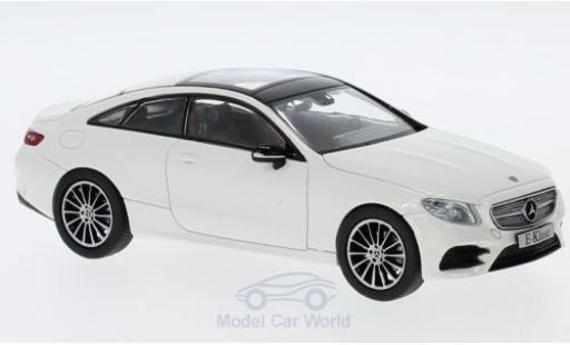 Mercedes Classe E 1/43 iScale Coupe (C238) métallisé blanche 2016 miniature