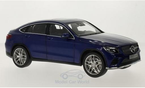 Mercedes Classe GLC 1/18 iScale GLC Coupe (C253) metallise blue diecast model cars