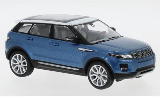 Land Rover Range Rover 1/43 I IXO Evoque metallise bleue/blanche 5-portes miniature