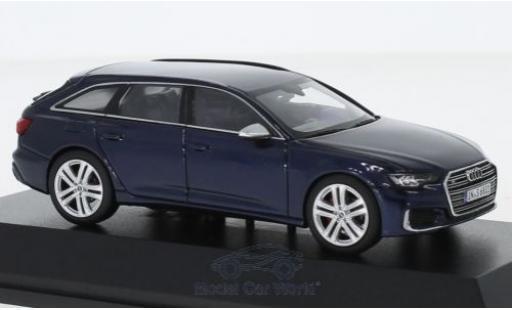 Audi S6 1/43 I Jadi Avant bleue 2019 miniature