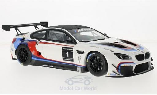 Bmw M6 1/18 Kyosho GT3 blanco/negro Sportstrophy 2016 2016 The Next 100 Years ohne Vitrine coche miniatura