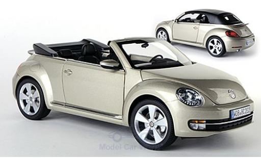Volkswagen Beetle 1/18 Kyosho Cabriolet metallise beige 2013 Softtop liegt bei ohne Vitrine miniature