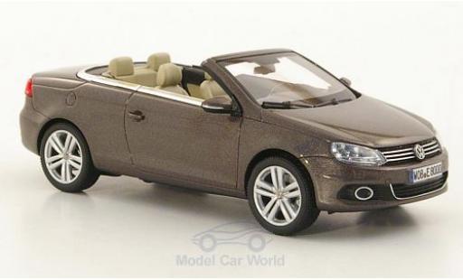 Volkswagen Eos 1/43 Kyosho metallise braun 2011 modellautos