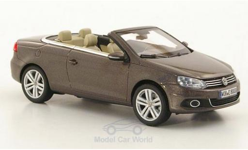 Volkswagen Eos 1/43 Kyosho metallise marrone 2011 modellino in miniatura
