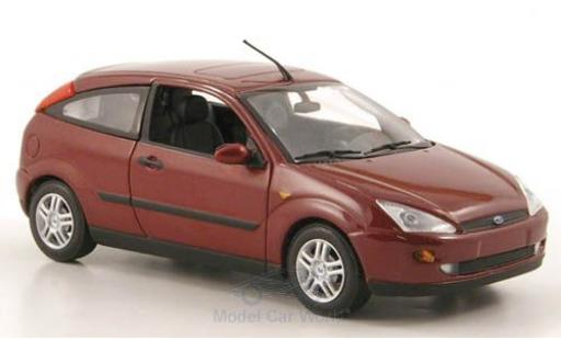 Ford Focus 1/43 Minichamps MkI 3-Türer metallise rouge 2002 miniature
