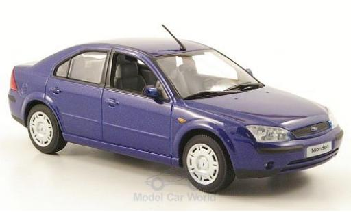 Ford Mondeo 2001 1/43 Minichamps MKIII metallise bleue Stufenheck miniature