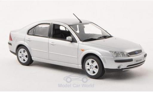 Ford Mondeo 1/43 I Minichamps MKIII grise 2001 Stufenheck miniature
