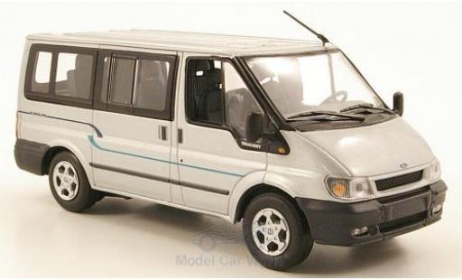 Ford Transit 1/43 Minichamps Bus Euroline grise 2000 ohne Vitrine miniature