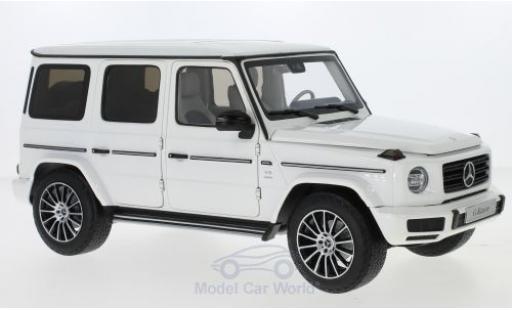 Mercedes Classe G 1/18 Minichamps (W463) white 2019 40 Jahre diecast model cars