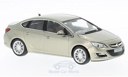 Opel Astra 1/43 Minichamps J Limousine metallise beige 2012 miniature