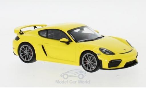 Porsche 718 1/43 I Minichamps (982) Cayman GT4 jaune 2019 miniature